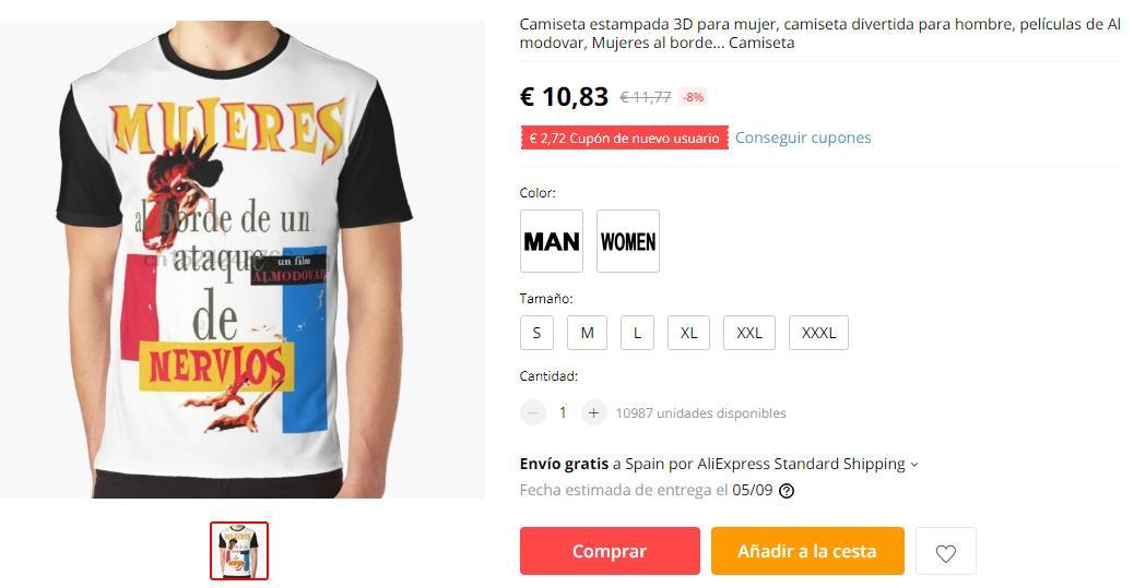 ¿Alguien sabe por qué demonios Aliexpress vende camisetas de las pelis de Almodóvar pero en lugar de con los posters originales... CON GALLINAS?
