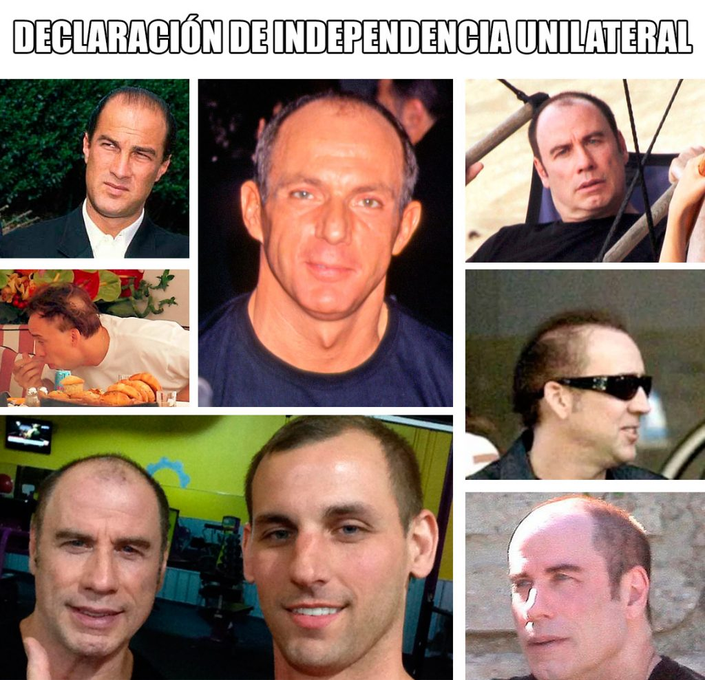Parece que Travolta le ha dado la independencia a su pelo finalmente...
