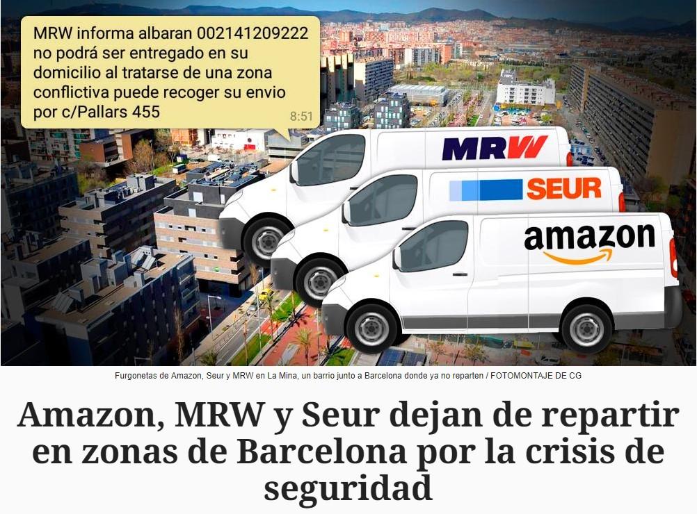 Amazon, MRW, y Seur son fachas