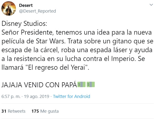 Star Wars: Episodio IV - Una nueva fragoneta