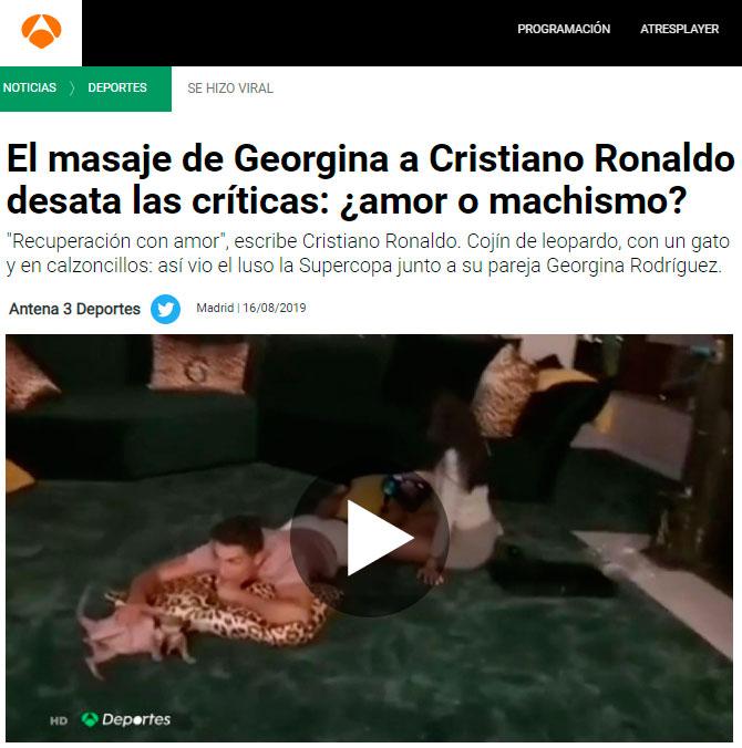 """Y hoy en """"todo es machismo"""": Cristiano Ronaldo"""