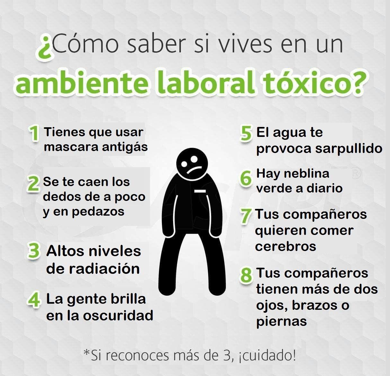 Interesante guía para saber si trabajas en un ambiente tóxico