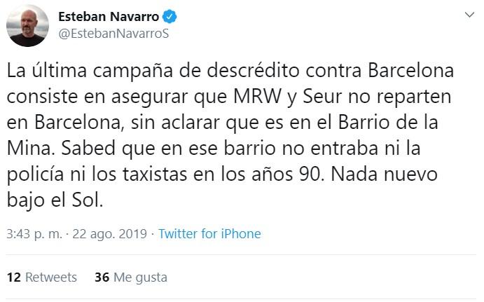 MRW, Amazon, y Seur desmienten que no estén entregando paquetes en ciertas zonas de Barcelona