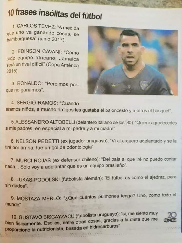 Frases de oro pronunciadas por futbolistas top