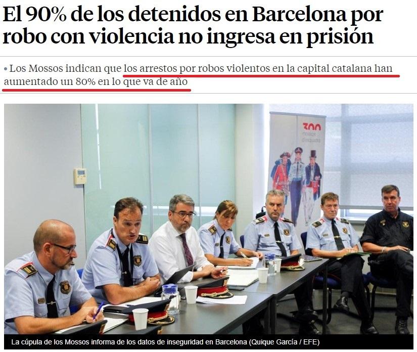 ¿Campaña de desprestigio contra Barcelona? vamos con algunos datos de los Mossos