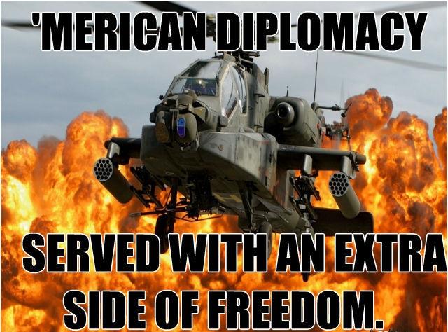 """El ejército de EEUU llevando democracia a una isla que según dicen estaba """"infestada por el ISIS"""""""