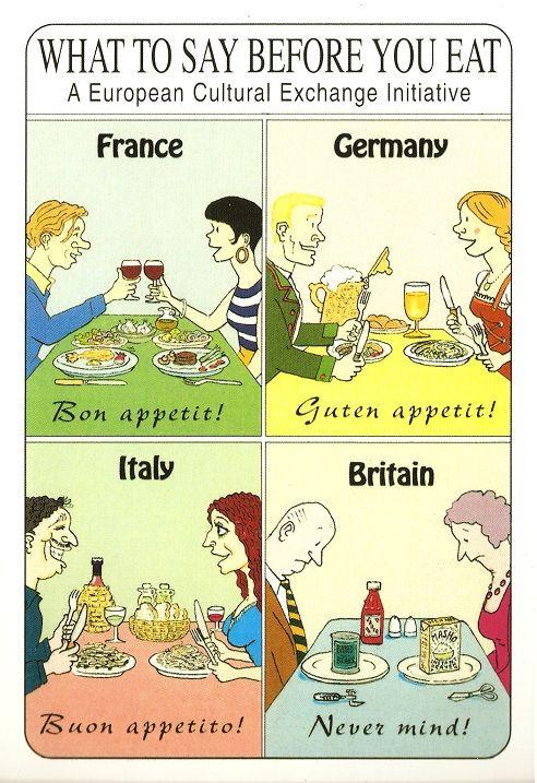 Ya vale de hablar mal de la comida extranjera