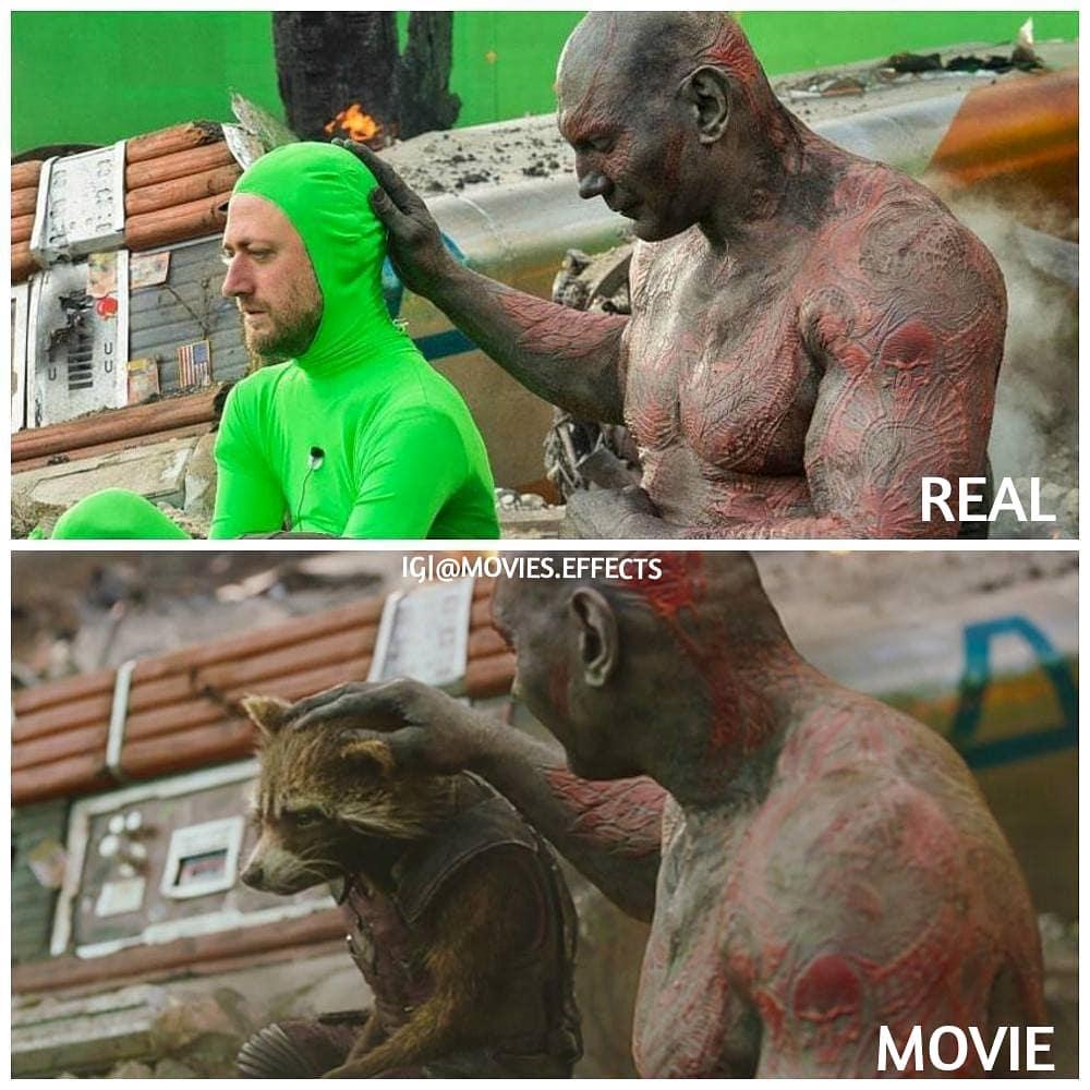 Escenas de películas míticas con y sin efectos especiales mostradas a pantalla dividida
