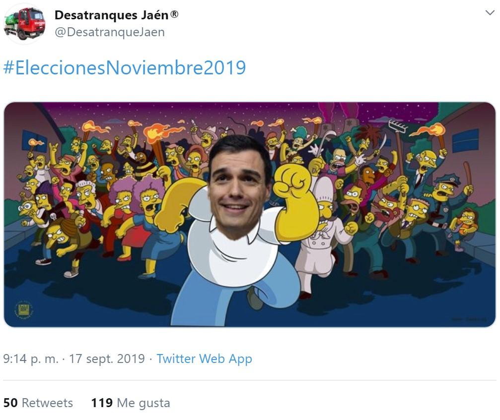 Pedro Sánchez pidiendo que le BOTEN