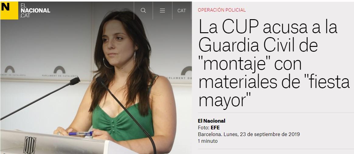 La Guardia Civil detiene a nueve independentistas acusados de planear ataques con explosivos
