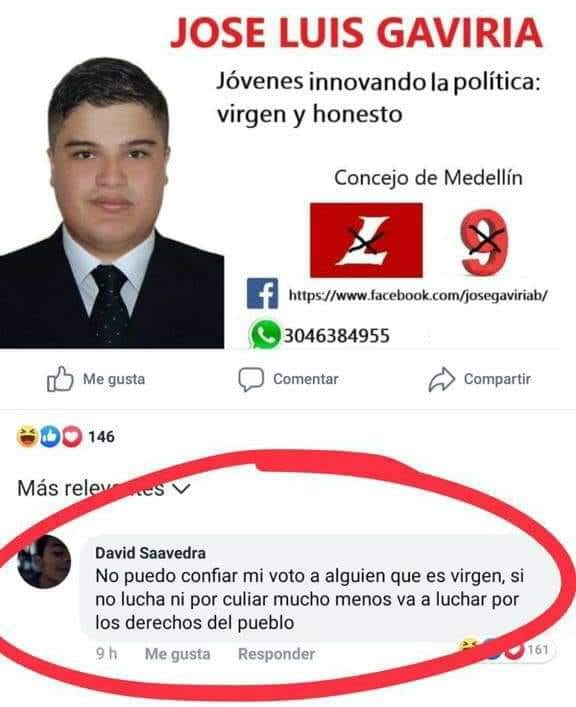 Jose Luis Gaviria no es de fiar