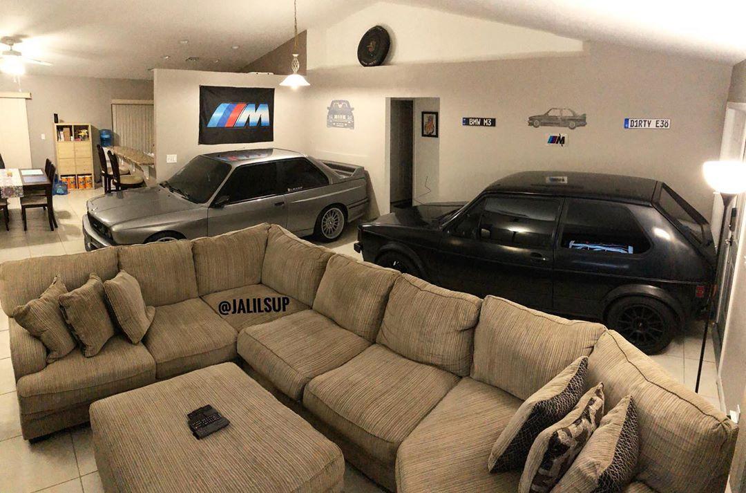Protege este BMW M3 del huracán Dorian aparcándolo en su salón