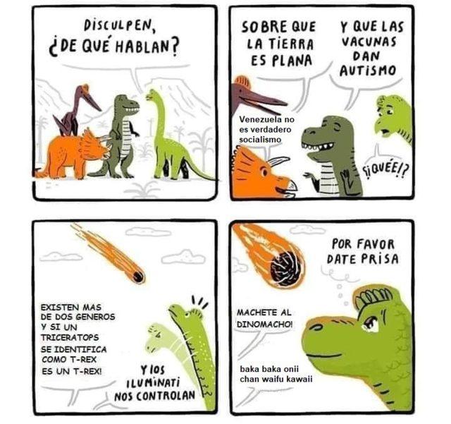 Si los dinosaurios se hubieran extinguido en 2019
