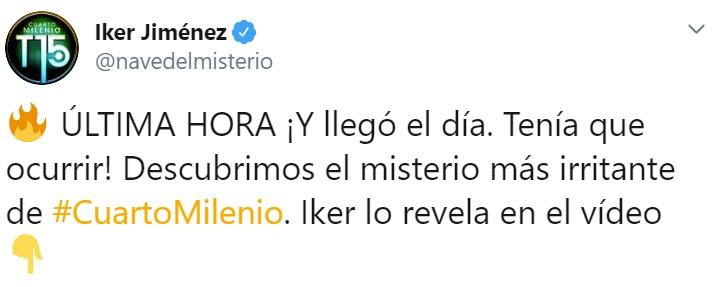 Friker Jiménez desvela un misterio que le estaba atormentando