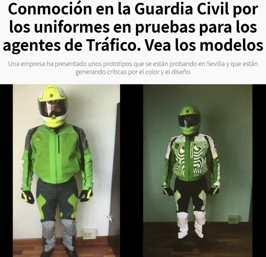 Demigrancia pura: así son los nuevos uniformes que podrían llevar los agentes de tráfico de la Guardia Civil