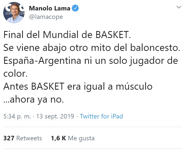 And here we go again: Manolo Lama se mete en un nuevo jardín
