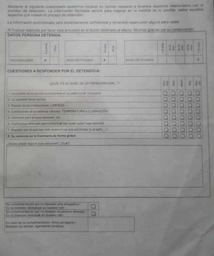 La Ertzaintza encuesta a los detenidos sobre su satisfacción al estilo Trip Advisor: «La opinión del cliente es fundamental»