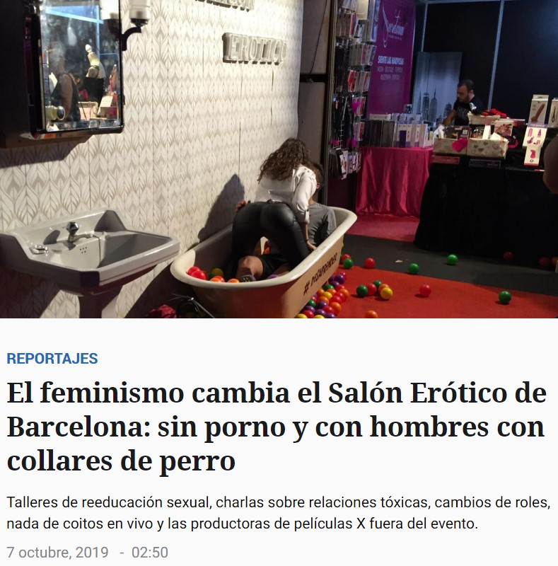 ¿Os acordáis de la promo de este año para el Salón Erótiko de Barcelona?