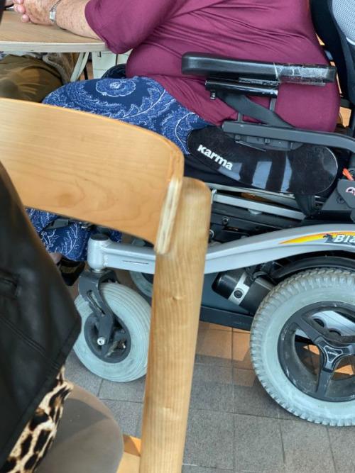 Quizás no es la mejor marca para ponerle a una silla de ruedas