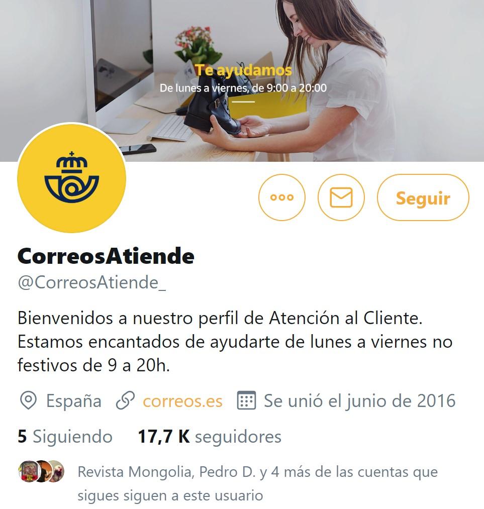 La cuenta de atención al cliente de Correos ha sido hackeada y troleada