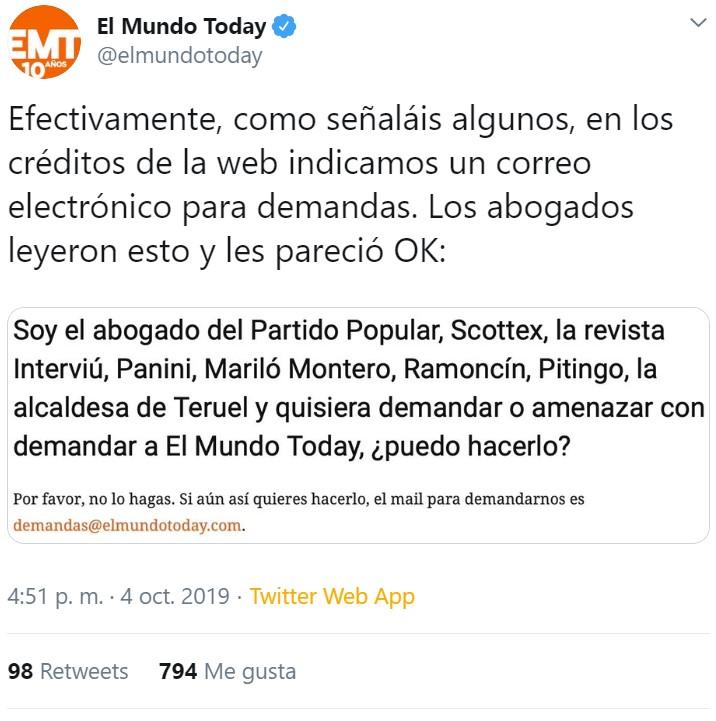 El Granada denuncia a El Mundo Today por algo que ni siquiera han publicado