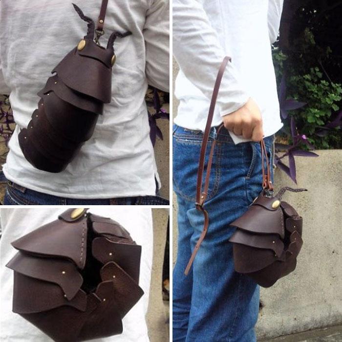 Un artista japonés crea bolsos, mochilas, carteras y otros