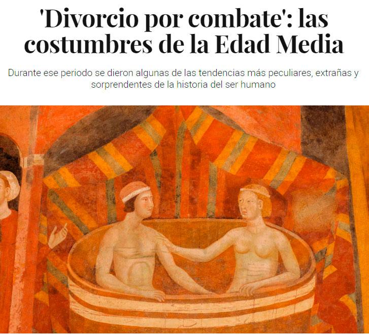"""Ya se tomaban medidas """"feministas"""" en la Edad Media"""