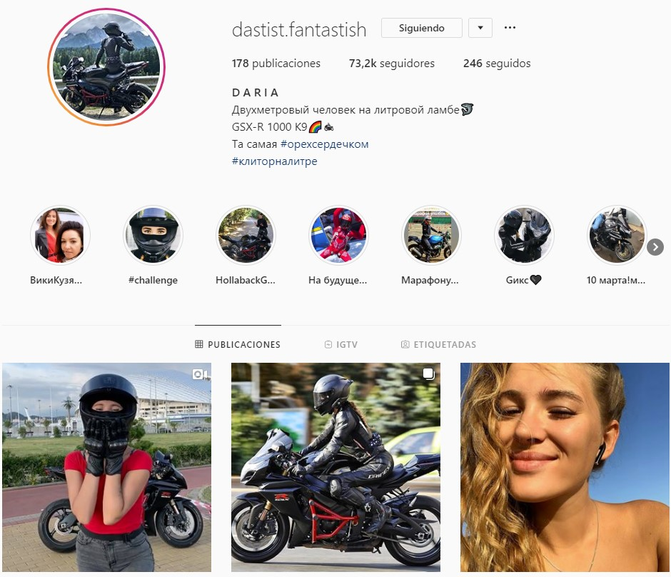 Una motera instagramer choca contra un guardaraíl cuando circulaba con su moto a 180km/h