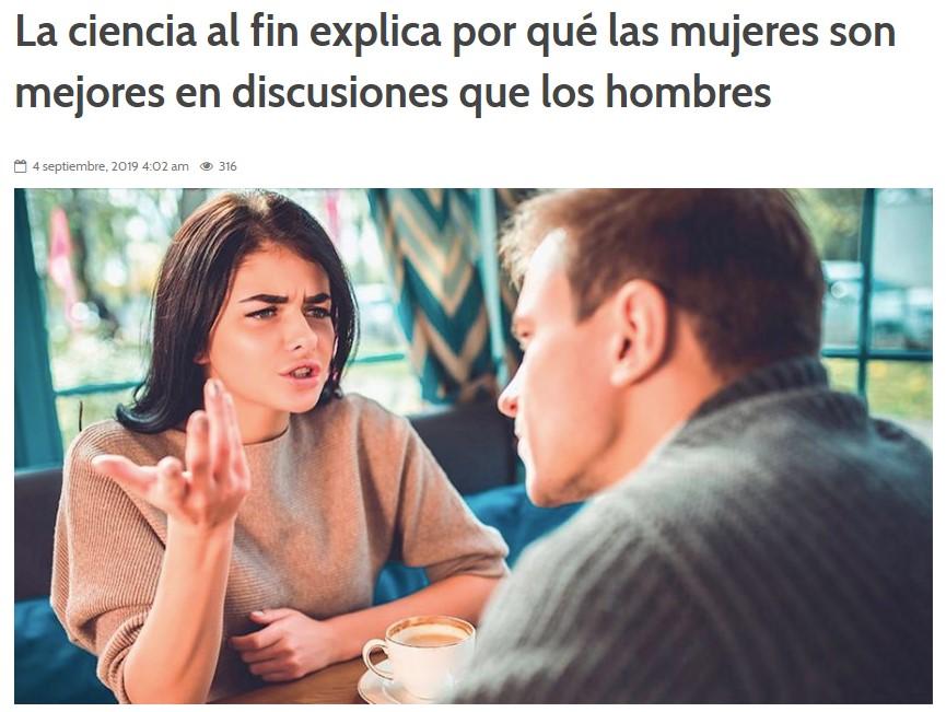 La ciencia demuestra por qué siempre perdemos las discusiones con nuestras parejas mujer