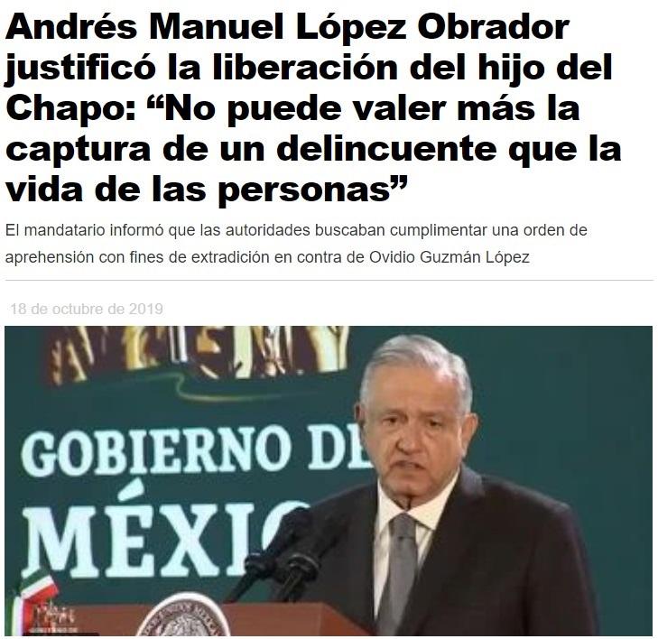 """Detienen y después liberan a Ovidio Guzmán, hijo de """"El Chapo"""""""