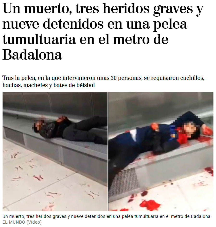 Menudo panorama se encontró la gente ayer en el metro de Badalona...