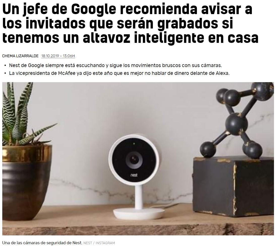 Google ve venir en el horizonte una nueva denuncia sobre la privacidad...