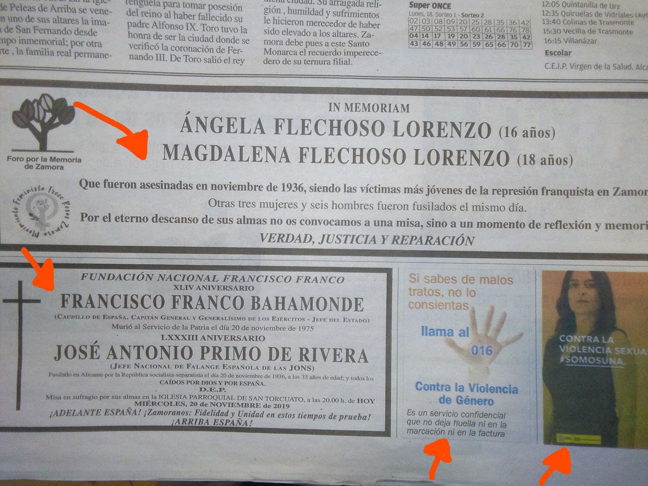 La política española en un recorte de periódico