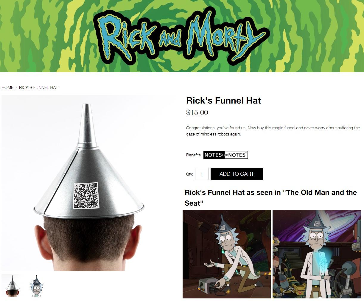 ¿A dónde te lleva el gorro embudo QR de Rick?