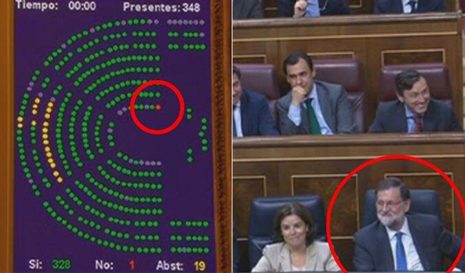 Never forget a Rajoy votando en contra de sus propios presupuestos