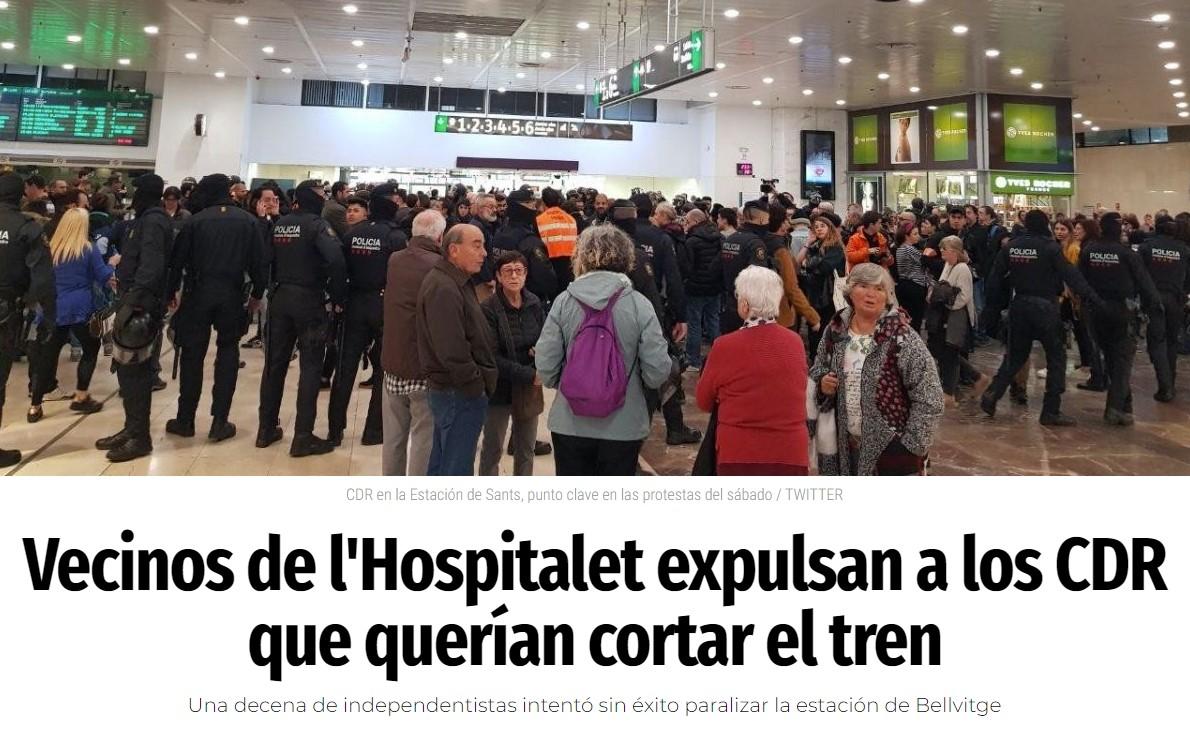 """Vecinos de Hospitalet usaron *""""acción pacífica"""" vs """"acción pacífica""""*, ES SUPER EFECTIVO!"""
