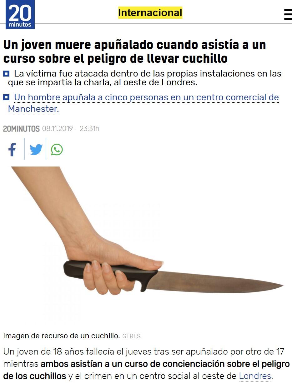 Menos mal que no llevaba cuchillo...