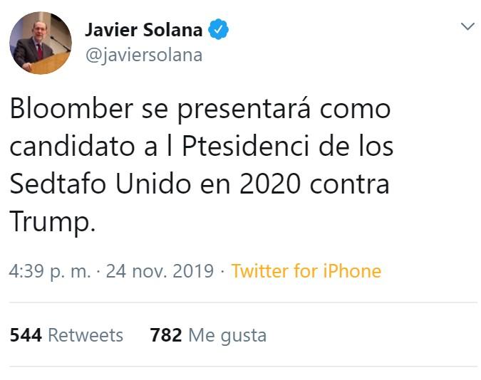 Javier Solana, ¿eftás bienf?