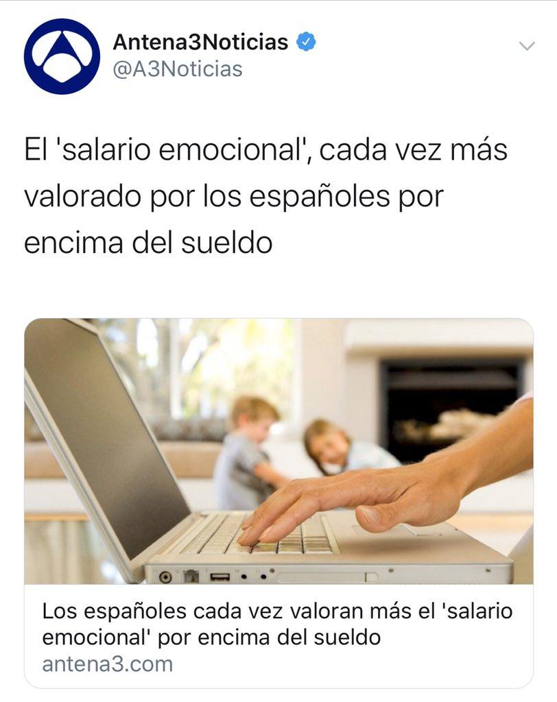 """""""Salario emocional"""" el nuevo eufemismo para referirte a no cobrar."""