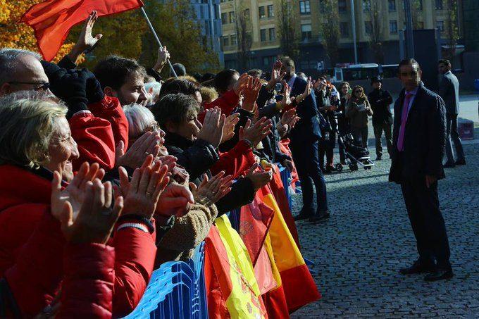 Recibimiento al Rey Felipe VI en Pamplona