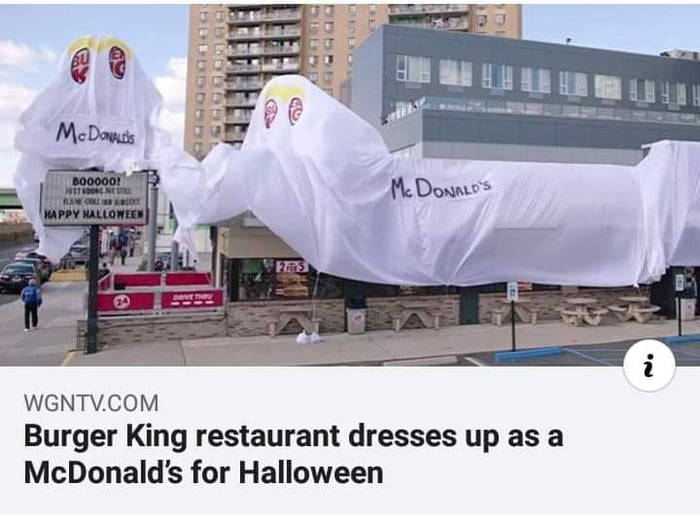 Un Burger King se disfraza de McDonald's en Halloween