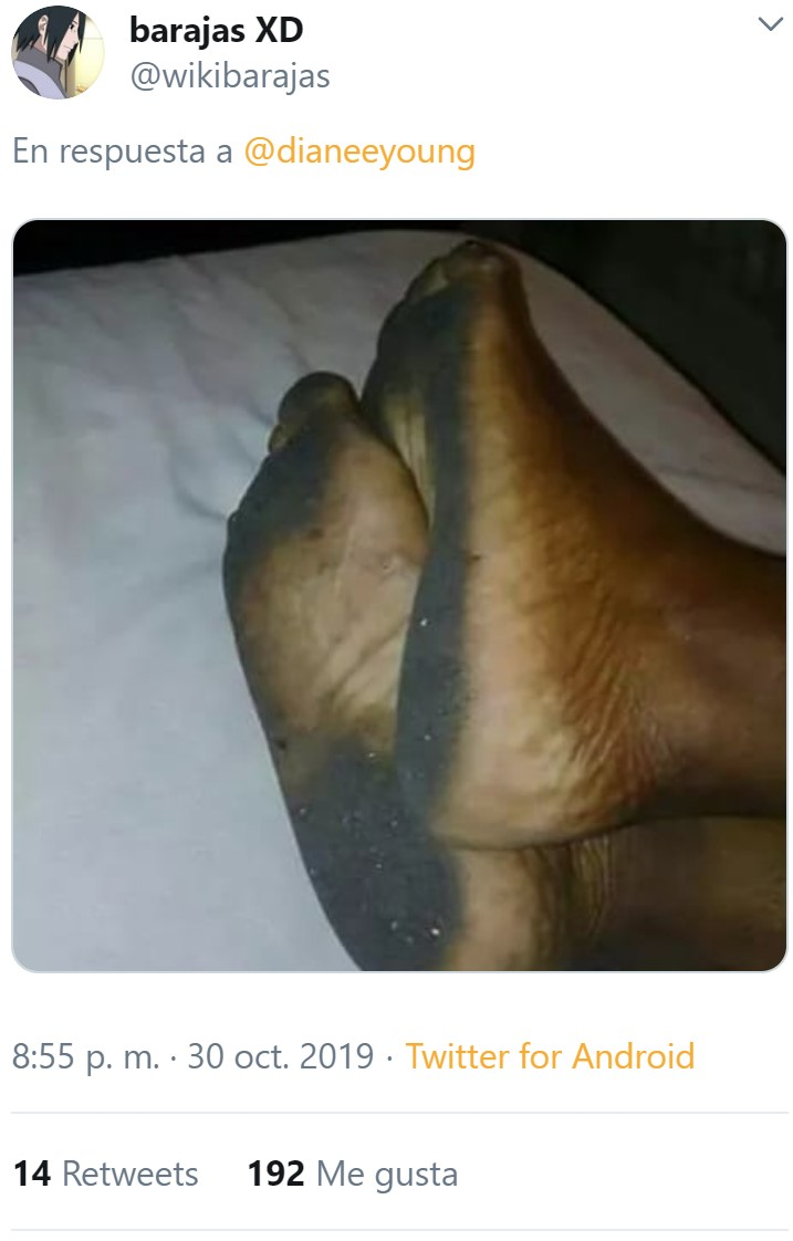 Ya sabemos a qué se refiere Whatsapp con esos pies...