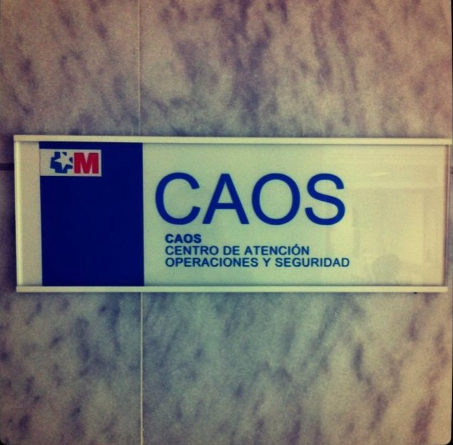 Vamos a utilizar CAOS para identificar el centro de seguridad. Eso generará confianza.