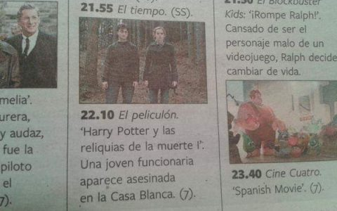 Creo que no entendi harry potter