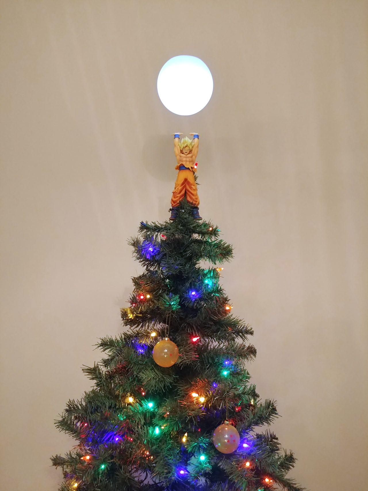 Un árbol de Navidad como dios manda