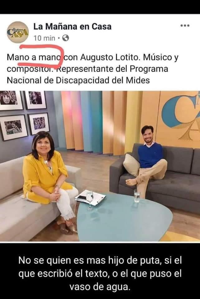 """""""Mano a Mano"""" con Augusto Lolito."""