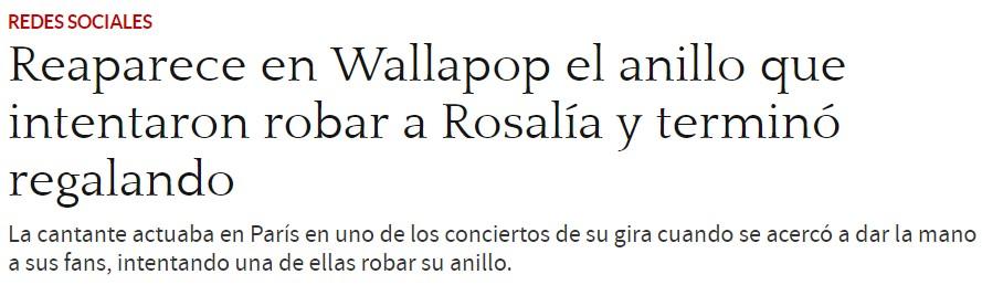 Rosalía nota que alguien le está intentando robar el anillo, y decide regalárselo. El final NO te sorprenderá.