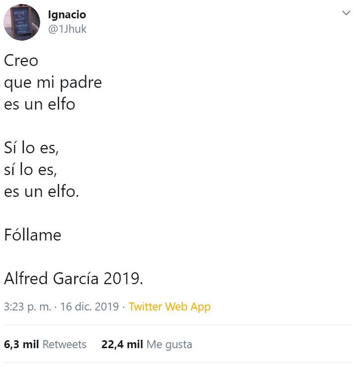 Alfredo de OT ha sacado un libro de poemas que parece escrito por un simio autista
