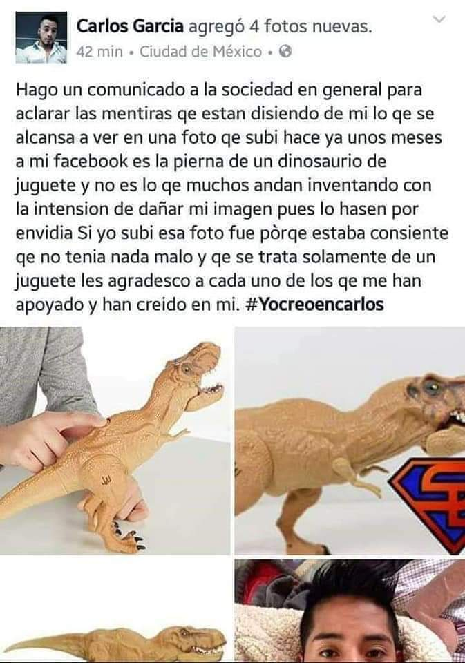 #YoSíTeCreo, Carlos.