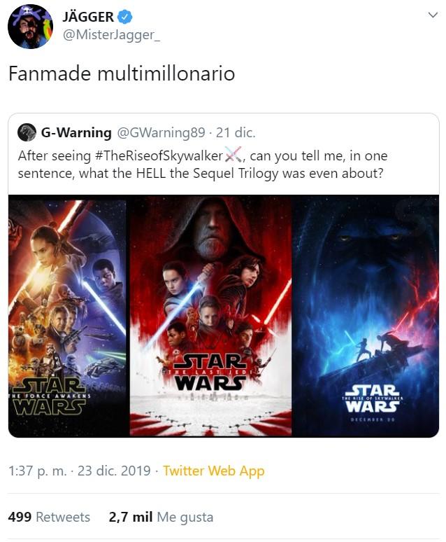 Ayer vi STAR WARS: El Ascenso de Skywalker